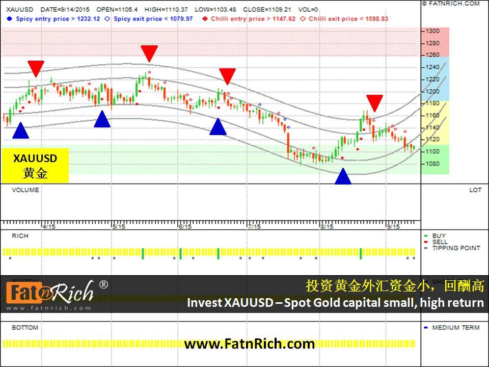 投资黄金外汇的秘诀XAUUSD黄金兑美元